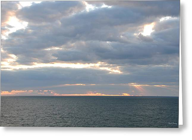 Morning Seascape  Greeting Card by Bill Perry