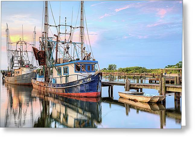 Morning Shrimpers Greeting Card by JC Findley