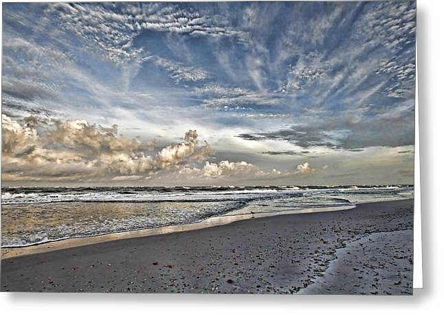 Morning Sky At The Beach Greeting Card