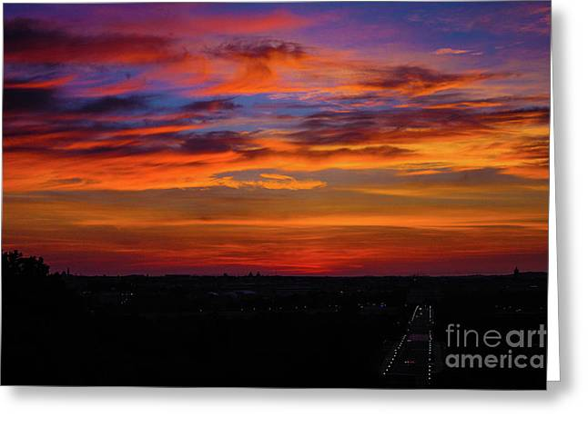 Morning Sky Over Washington D C Greeting Card