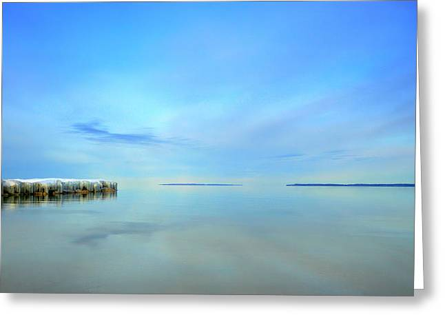 Greeting Card featuring the photograph Morning Sky Reflections by SimplyCMB