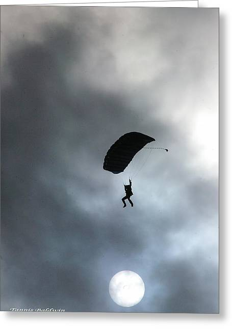 Morning Skydive Greeting Card