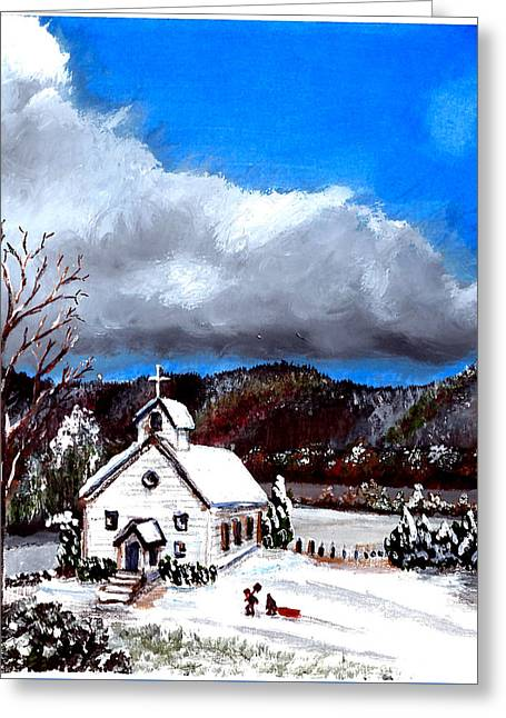 Morning Snow Ministry Greeting Card