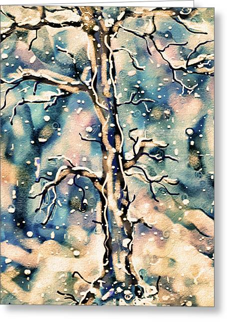 Morning Snow Greeting Card