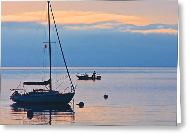 Morning Solitude, Lake Tahoe Greeting Card