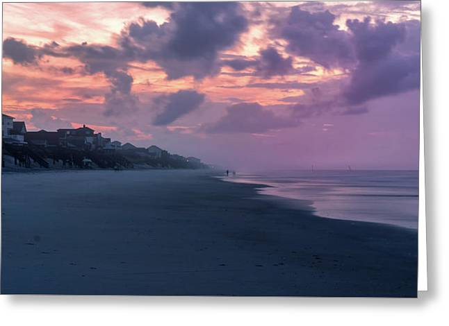 Morning Stroll On The Beach Greeting Card