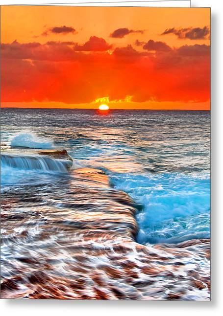 Morning Sun Greeting Card by Az Jackson