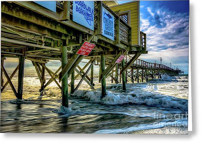 Morning Sun Under The Pier Greeting Card