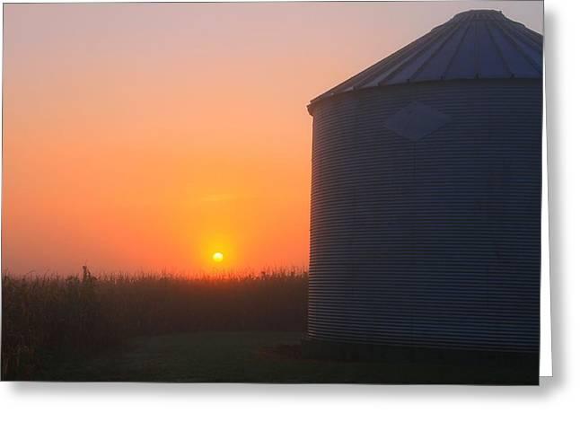 Morning Sunrise On The Farm Greeting Card