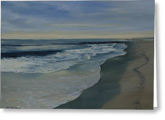 Greeting Card featuring the painting Morning Surf by Ken Ahlering