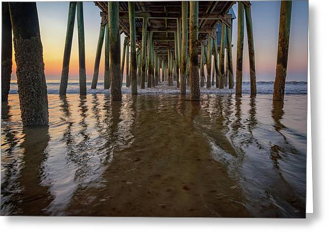 Morning Under The Pier, Old Orchard Beach Greeting Card