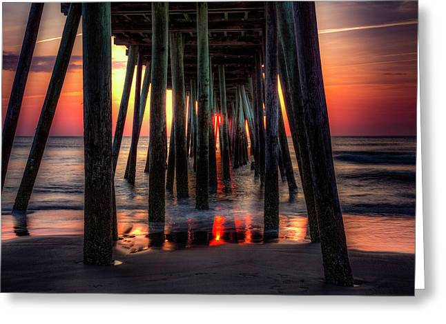 Morning Under The Pier Greeting Card