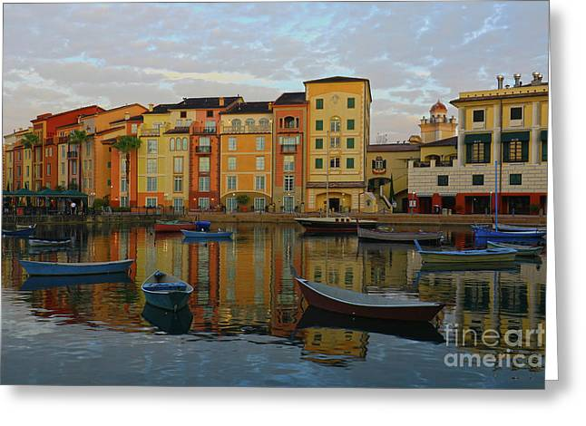 Morning Universal Reflections Greeting Card by Deborah Benoit