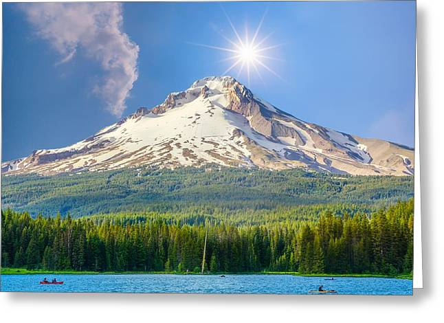 Morning View Of The Mt Hood Greeting Card