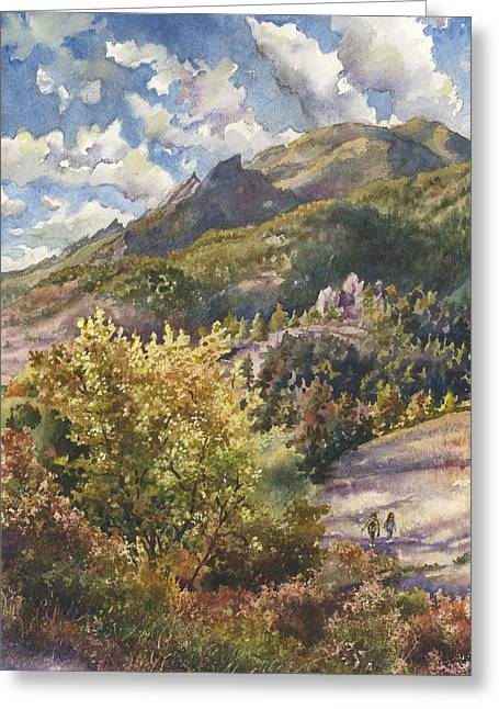 Morning Walk At Mount Sanitas Greeting Card by Anne Gifford