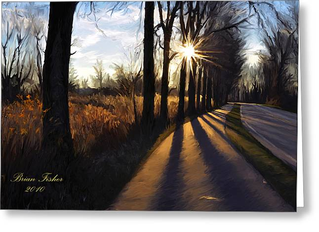 Morning Walk Greeting Card by Brian Fisher