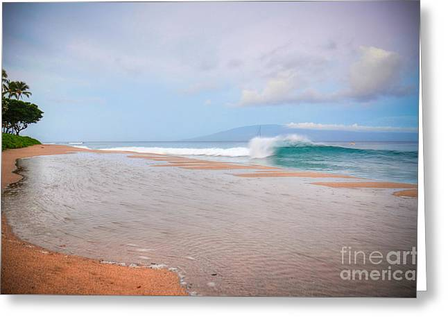 Greeting Card featuring the photograph Morning Wave by Kelly Wade