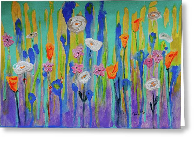 Morning Wildflowers Greeting Card