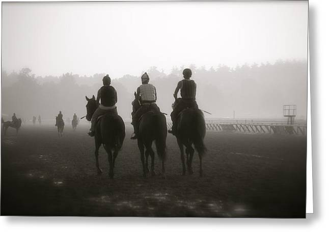 Morning Workout Saratoga Ny Greeting Card by Amanda Lonergan