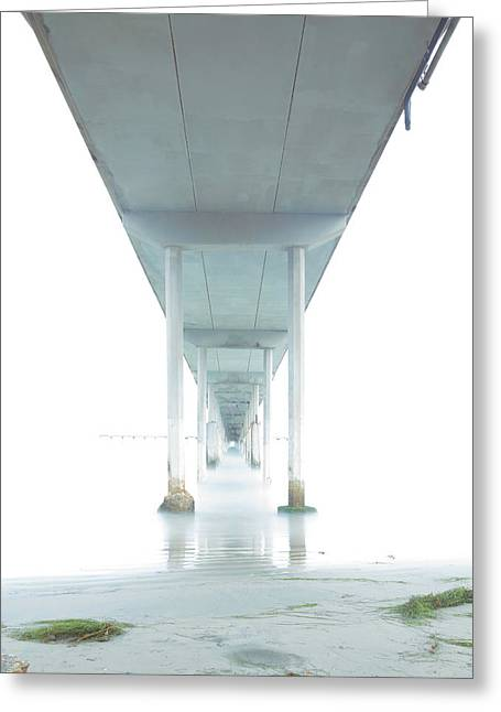 Mornings Underneath The Pier Greeting Card