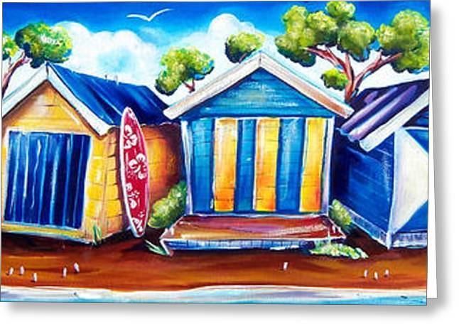 Best Sellers -  - Shack Greeting Cards - Mornington Beach Huts Greeting Card by Deb Broughton