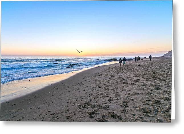Greeting Card featuring the photograph Moro Sunset by Anthony Baatz