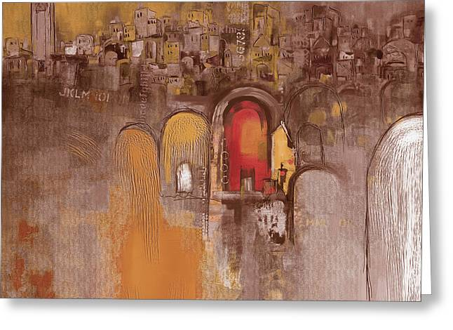 Moroccan Architecture 182 I Greeting Card by Mawra Tahreem