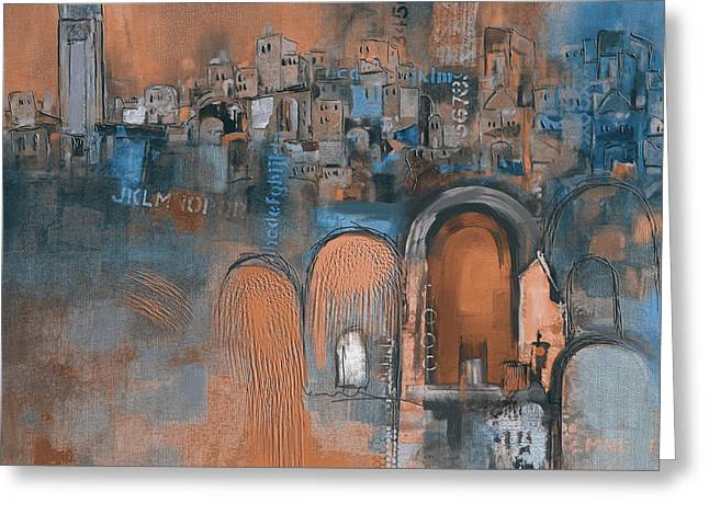 Moroccan Architecture 182 IIi Greeting Card by Mawra Tahreem