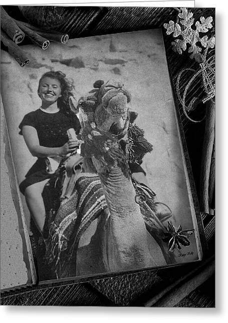 Greeting Card featuring the photograph Moroccan Camel Trek by Kathy Kelly