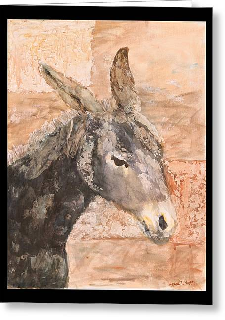 Moroccan Donkey Greeting Card by Laura Vazquez