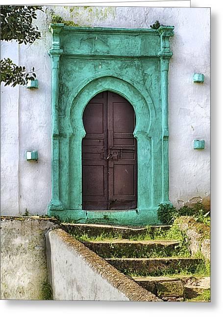 Moroccan Door Greeting Card