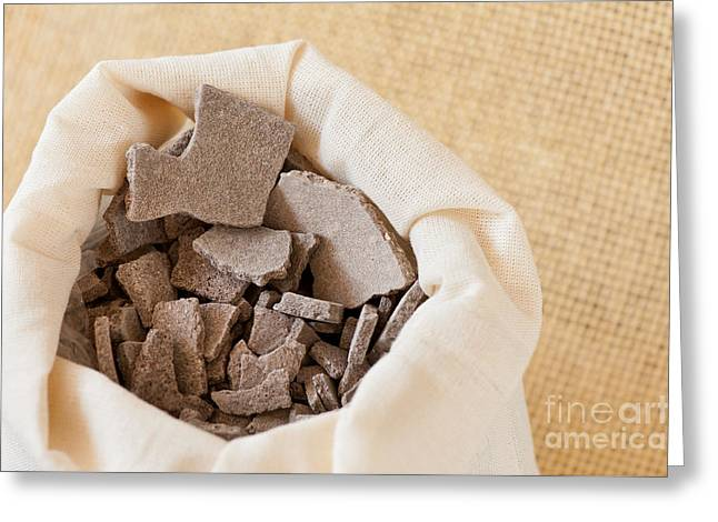 Moroccan Lava Clay Dried Chips Greeting Card