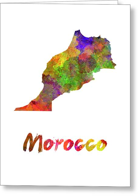 Morocco In Watercolor Greeting Card