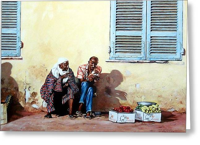 Morocco Greeting Card by Tim Johnson