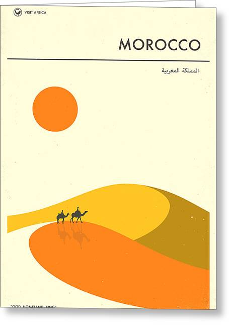 Morocco Travel Poster Greeting Card by Jazzberry Blue
