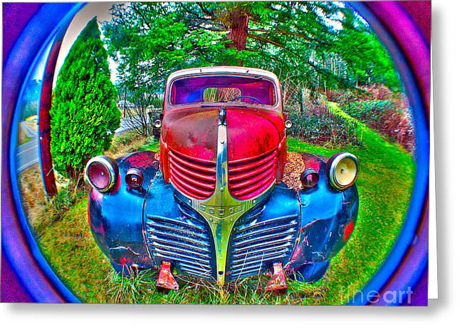 Morphing Mopar Greeting Card by Clayton Bruster