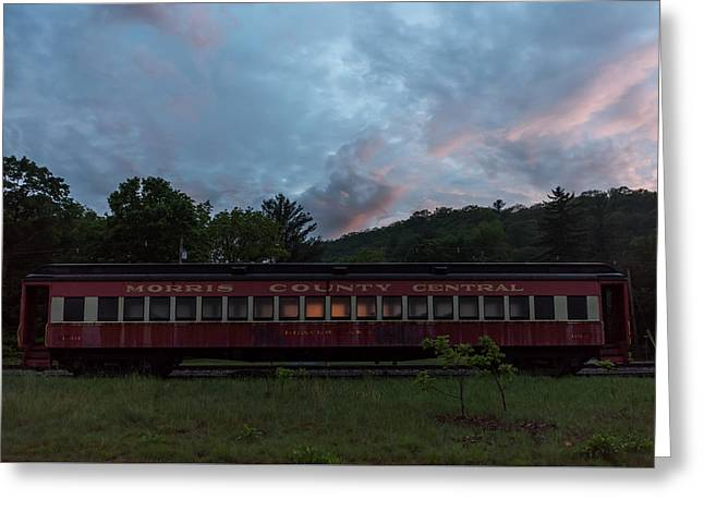 Morris County Central Railroad Passenger Car  Greeting Card by Terry DeLuco