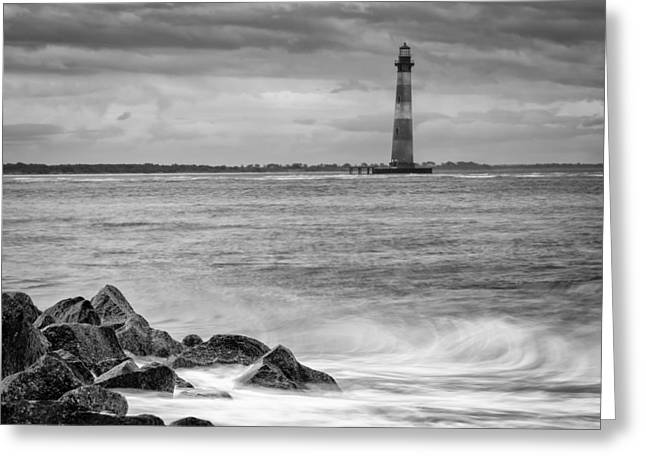 Morris Island Lighthouse Greeting Card by Brian Young
