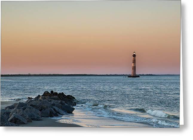 Morris Island Lighthouse Greeting Card by Drew Castelhano