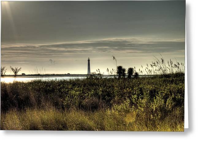 Morris Island Lighthouse Greeting Card