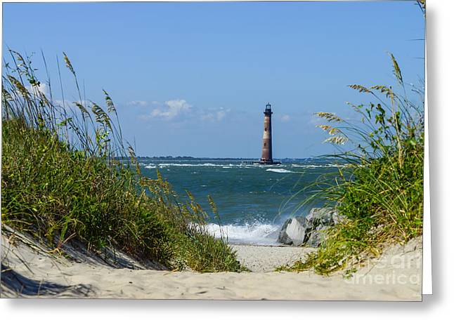Morris Island Lighthouse Walkway Greeting Card