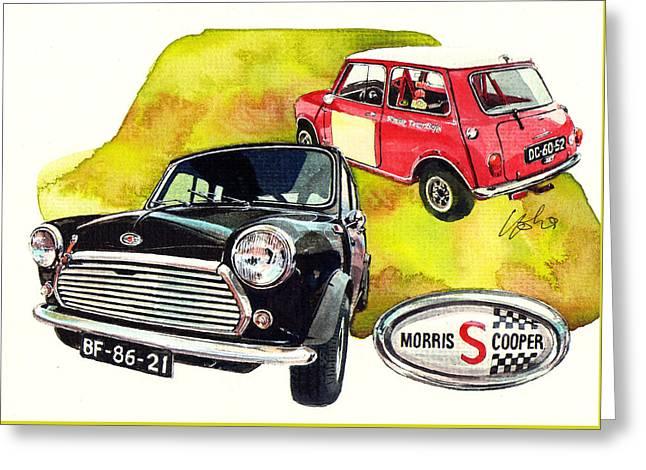 Morris Mini Cooper S Greeting Card