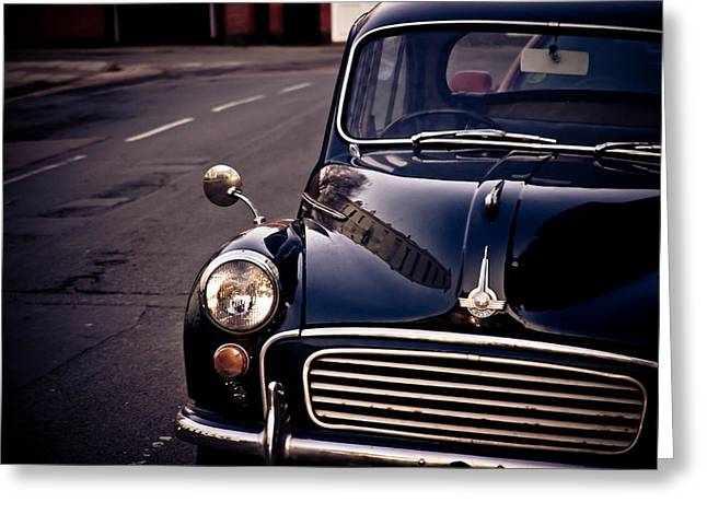 Morris Minor Greeting Card by Justin Albrecht
