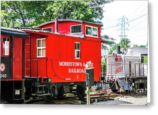 Morristown And Erie Caboose 1 Greeting Card