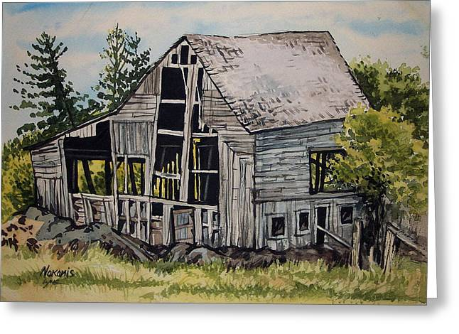 Morristown Barn Ny Greeting Card