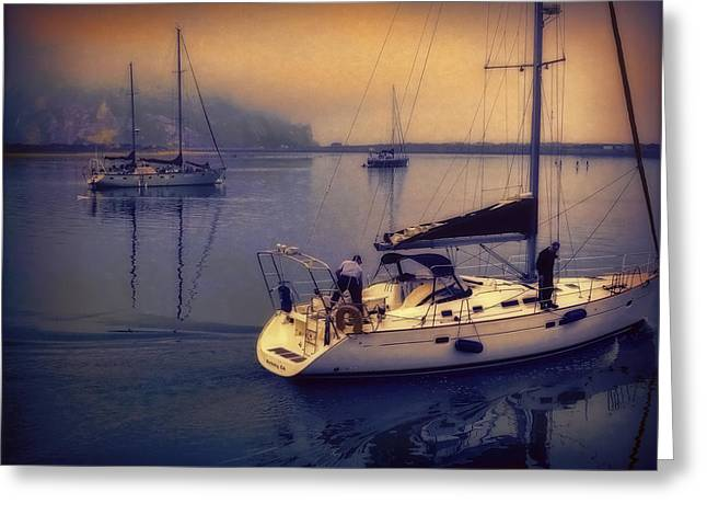 Greeting Card featuring the photograph Morro Bay Dawn by Douglas MooreZart