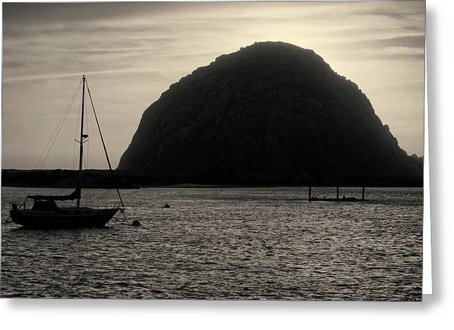 Morro Bay I Toned Greeting Card