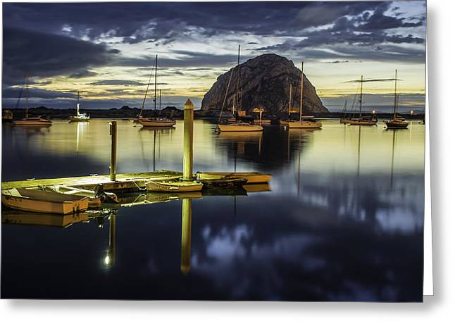 Morro Bay Reflections Greeting Card by Jan and Burt Williams