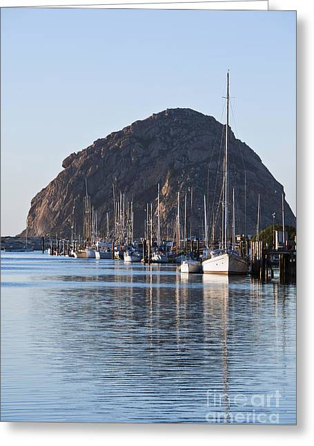 Morro Bay Sailboats Greeting Card by Bill Brennan - Printscapes