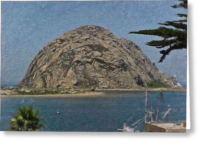 Morro Rock California Painting Greeting Card by Teresa Mucha